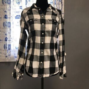 Levis Black Buffalo Check Western shirt medium